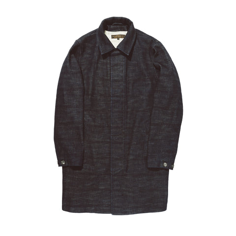 LINED STUDIO COAT - INDIGO