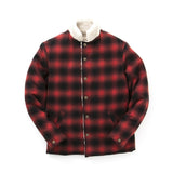 REVERSIBLE SHERPA JKT - RED PLAID