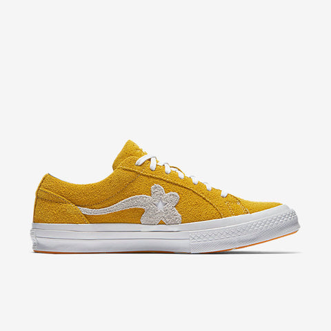 GOLF LE FLEUR* SUEDE LOW TOP - YELLOW