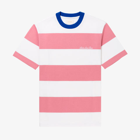 THICK STRIPED T-SHIRT - PINK