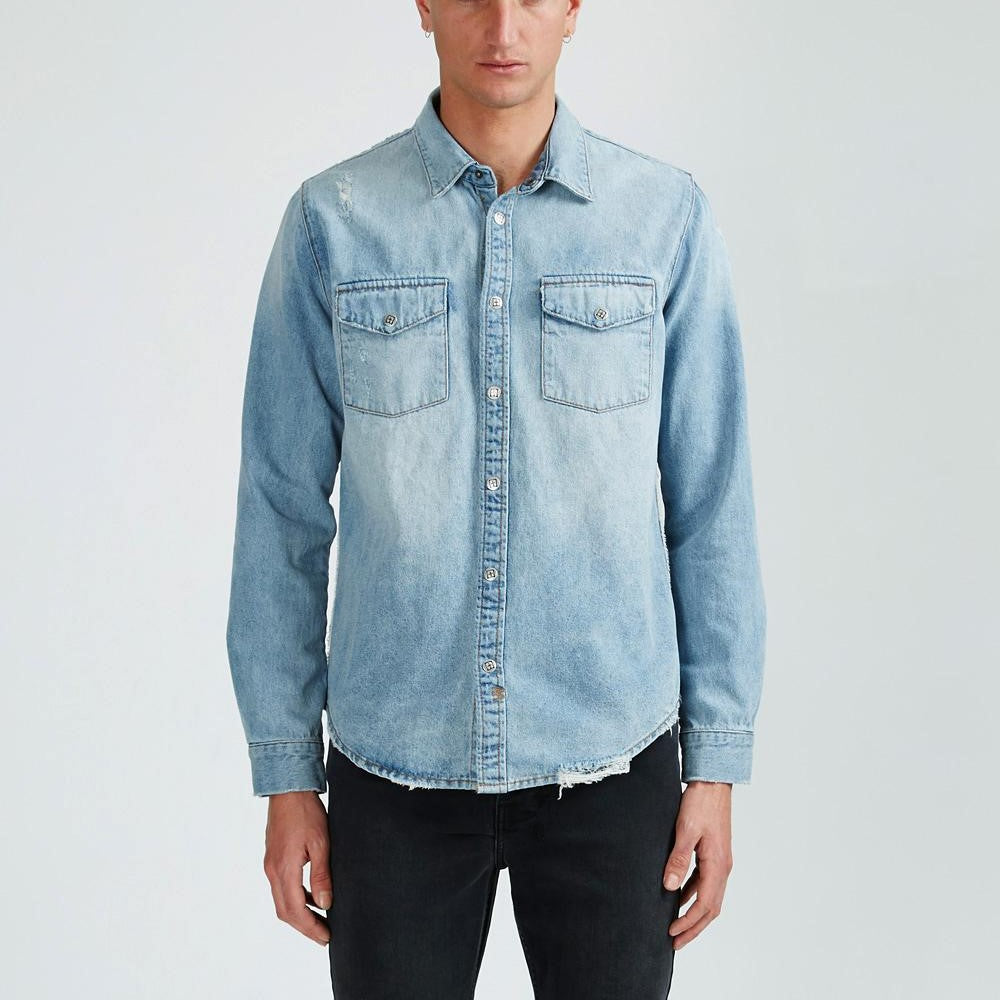 FRONTIER SHIRT VOLTAGE BLUE