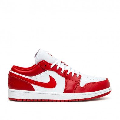 AIR JORDAN 1 LOW (GS) - GYM RED / WHITE