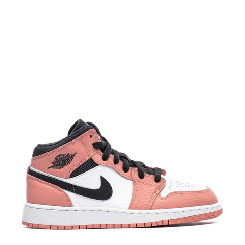 AIR JORDAN 1 MID (GS) - PINK QUARTZ / DARK SMOKE