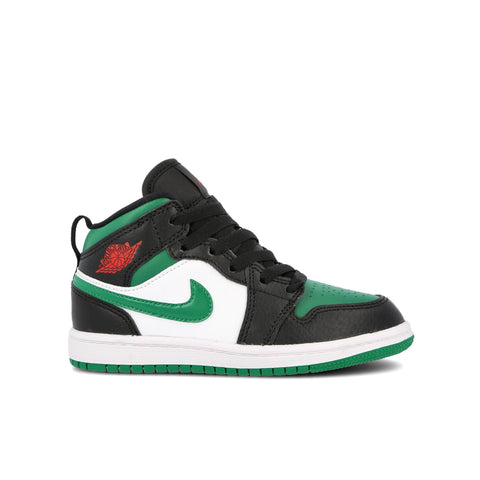 AIR JORDAN 1 MID (PS) - PINE GREEN / BLACK / HWITE