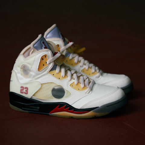 "OFF WHITE X AIR JORDAN 5 ""SAIL"""