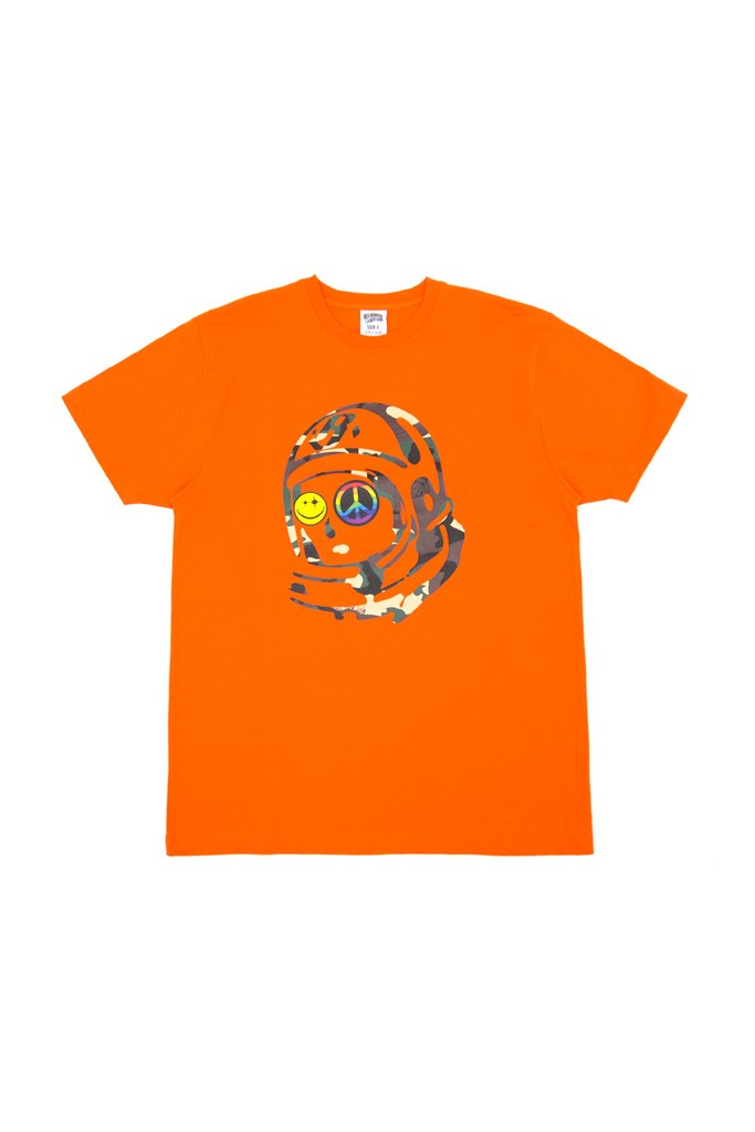 BACKWARDS CAMO SS TEE - ORANGE