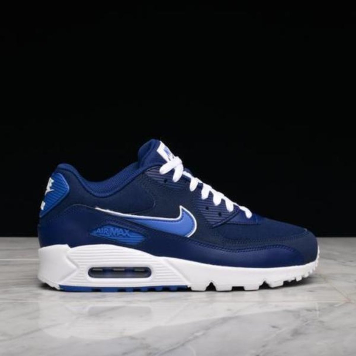 0b0cdb9753f NIKE AIR MAX 90 ESSENTIAL- BLUE VOID