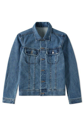 VESTE JEAN US JACKET - WASHED INDIGO