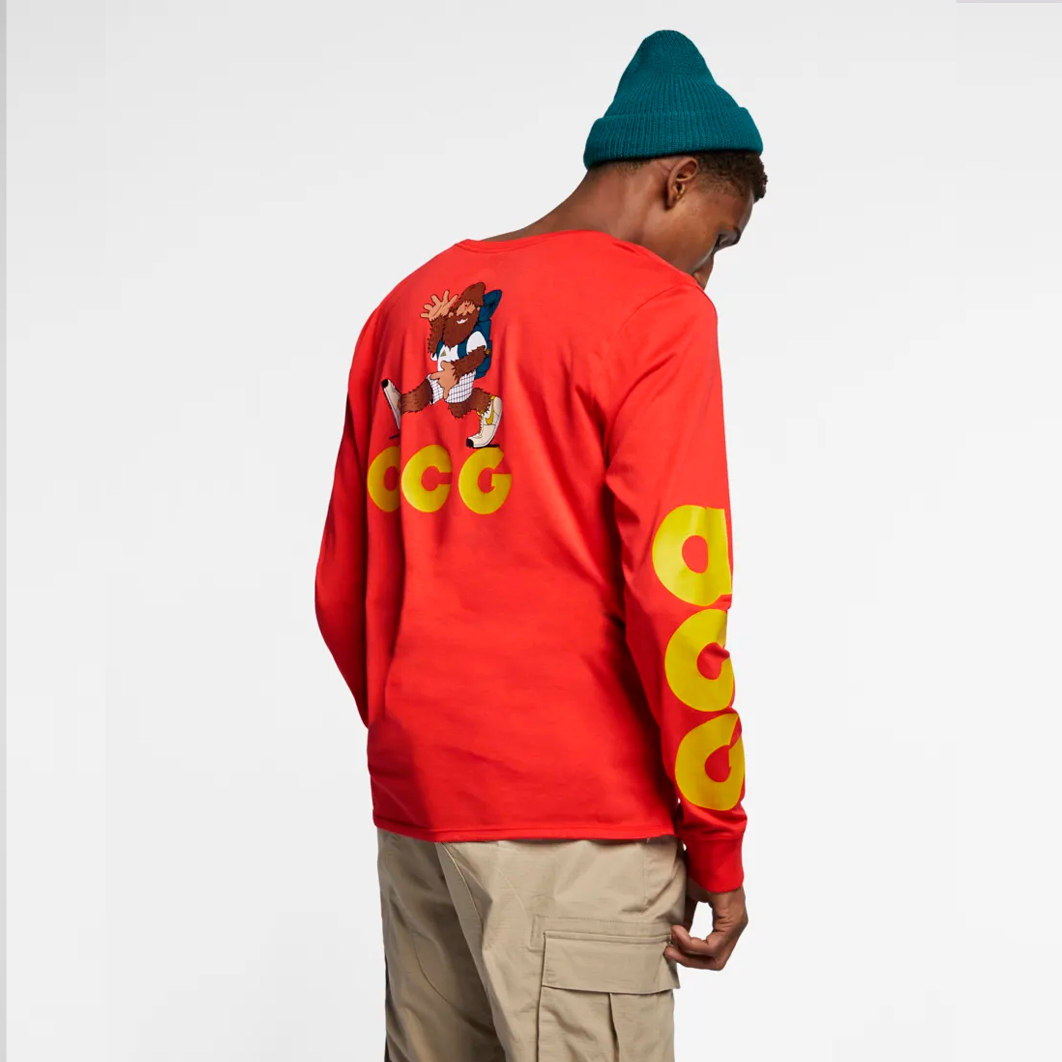 MEN'S LONG SLEEVE T-SHIRT - HABANERO RED