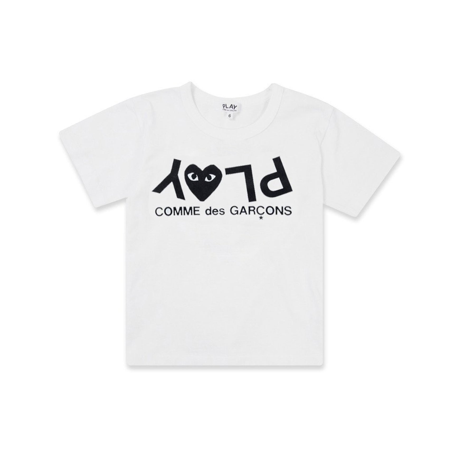 PLAY KIDS INVERTED LOGO TEE - WHITE
