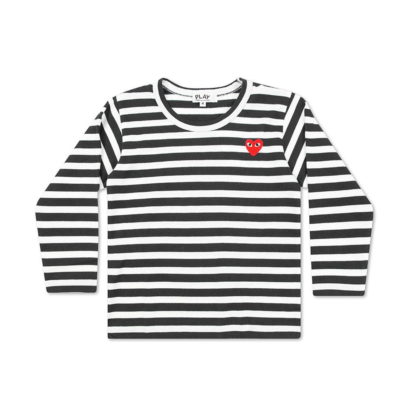 PLAY KIDS STRIPED LS TEE - BLACK