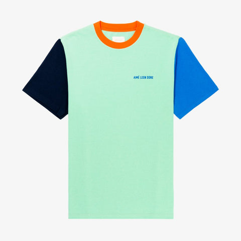 S/S COLOR-BLOCKED TEE - GREEN