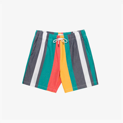 WIDE STRIPE OXFORD SHORT - MULTI