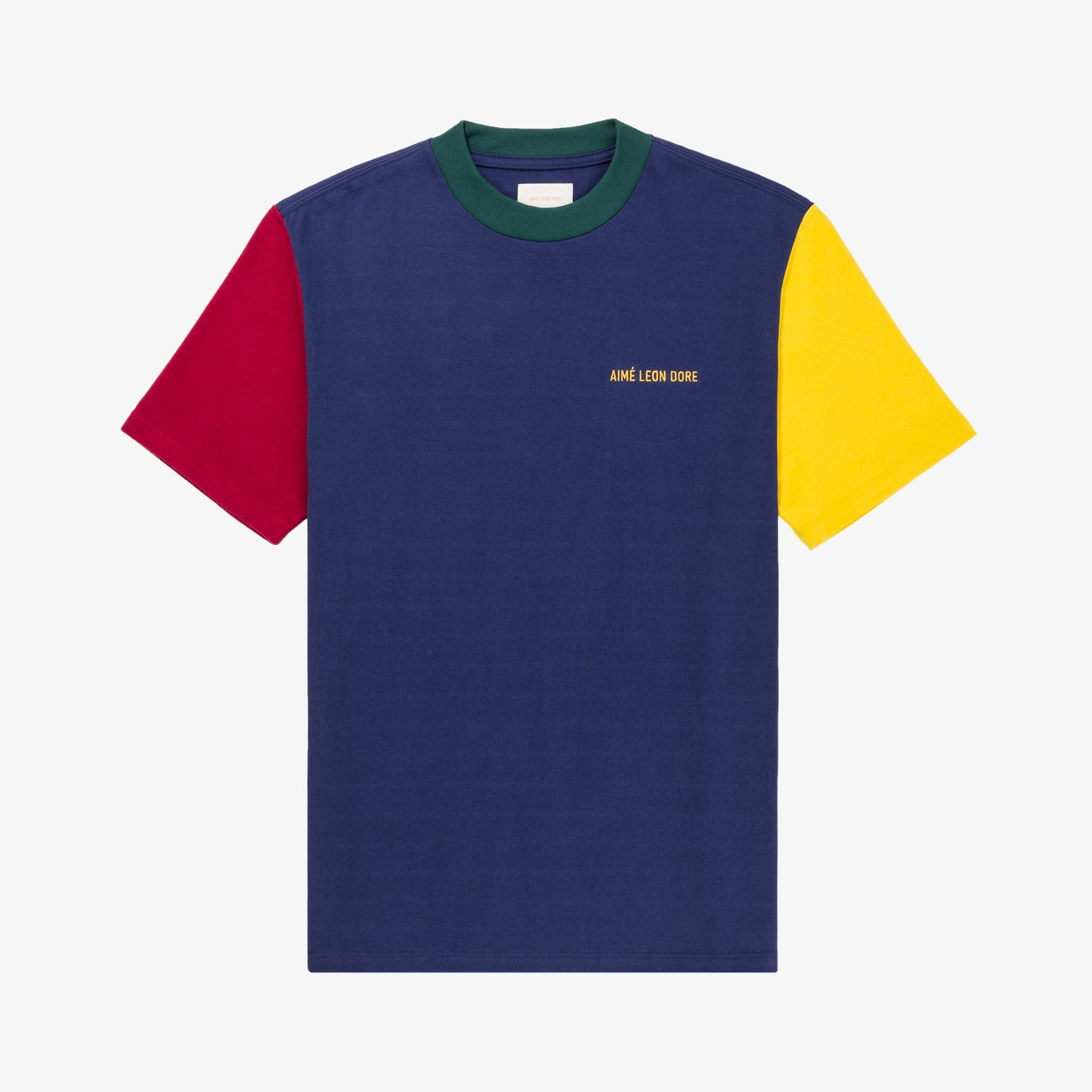 SS COLOR-BLOCKED LOGO TEE - NAVY