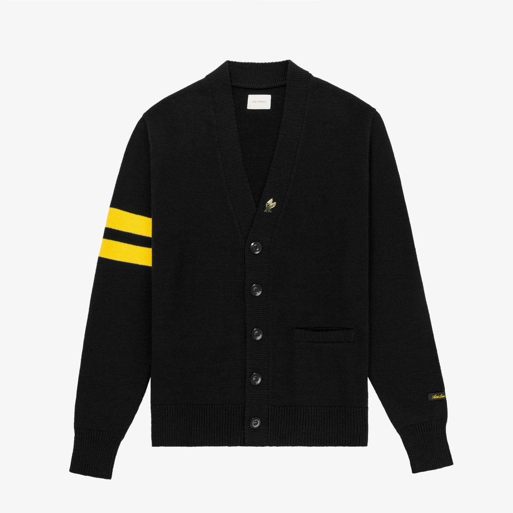 LETTERMAN CARDIGAN - BLACK