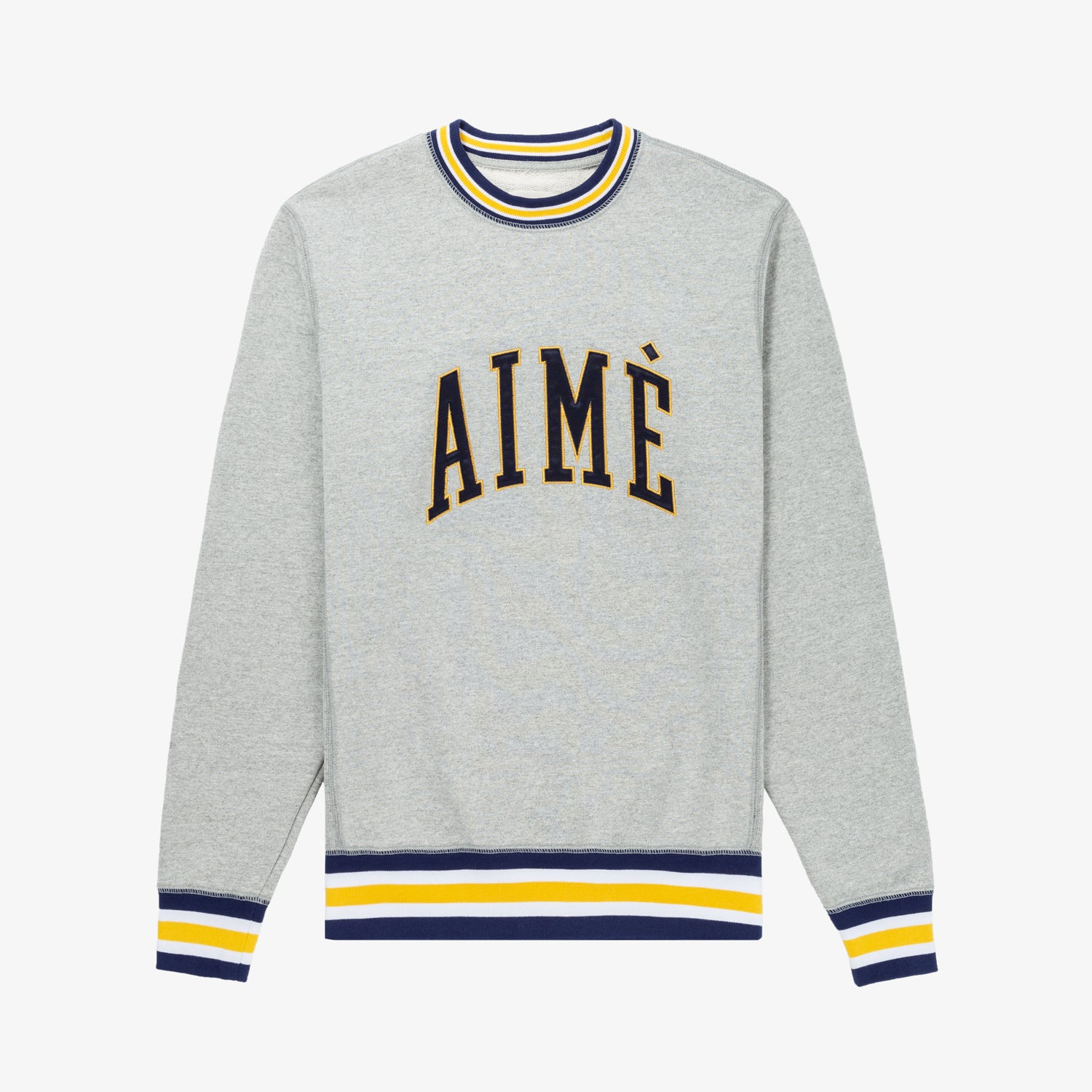 COLLEGIATE CREWNECK - GREY