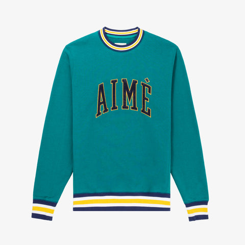 COLLEGIATE CREWNECK - GREEN