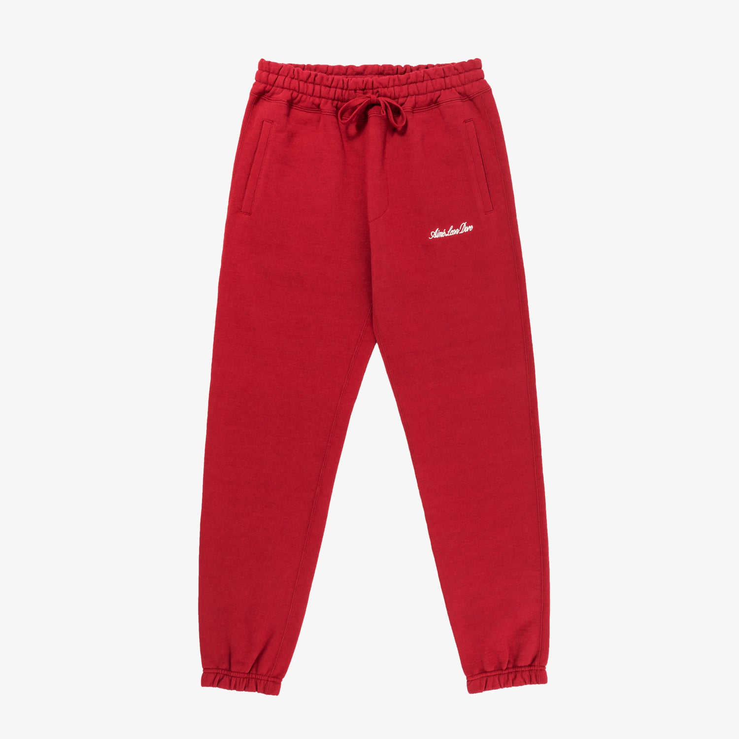 SCRIPT LOGO SWEATS - RED