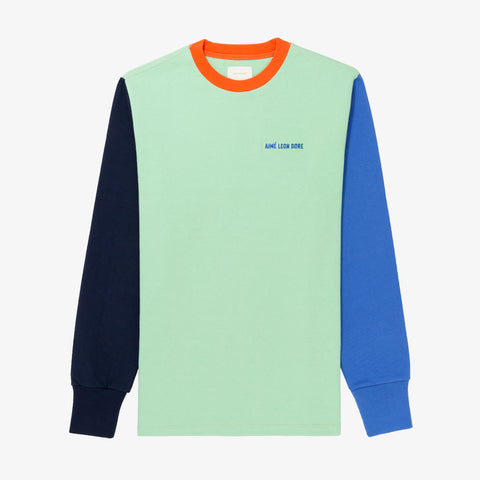 L/S COLORBLOCKED TEE - GREEN