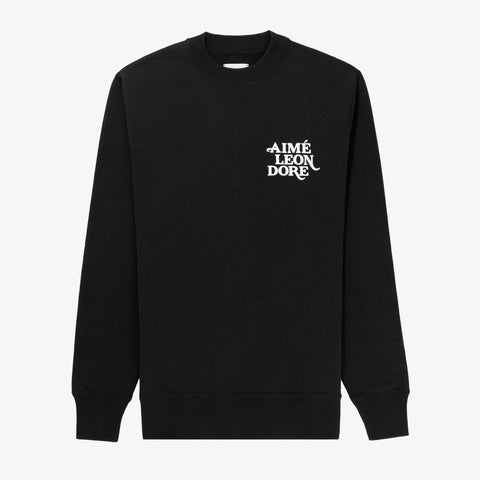 FLOCK PRINT CREWNECK - BLACK