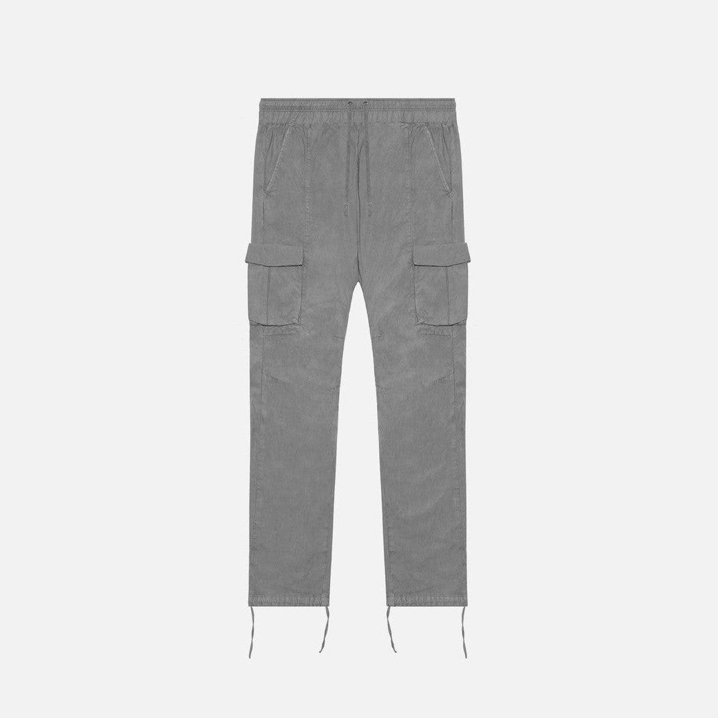 SATEEN CARGO PANTS - CHARCOAL