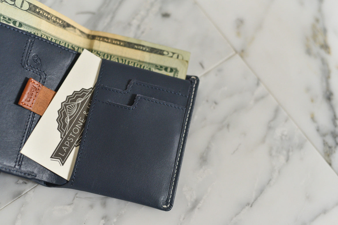 NOTE SLEEVE WALLET - BLUE STEEL
