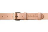LEATHER BELT - WAYNE NATURAL