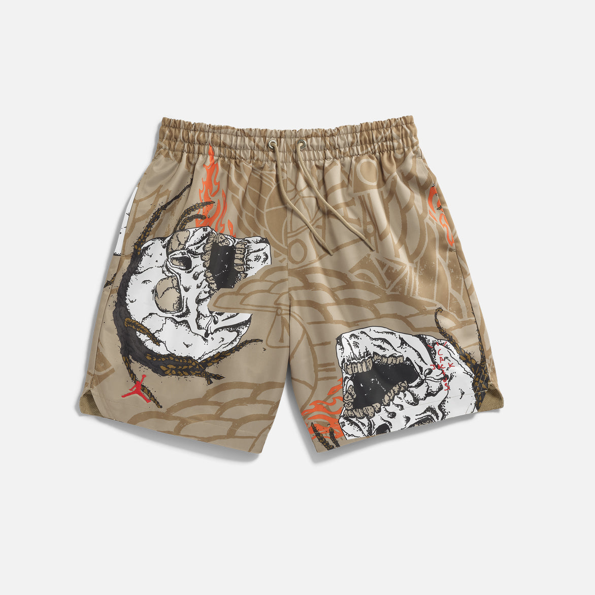 TRAVIS SCOTT X JORDAN POOL SHORT - KHAKI