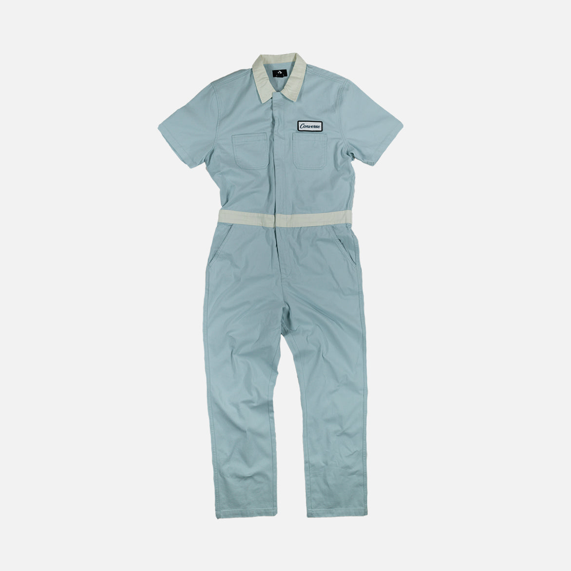 "GOLF LE FLEUR* X CONVERSE ""INDUSTRIAL"" JUMPSUIT - POWDER BLUE / WHITE"