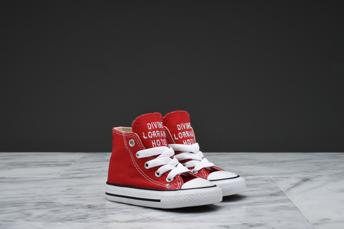 DIVINE LORRAINE HOTEL x CONVERSE CHUCK TAYLOR ALL STAR HI (TODDLER) - RED