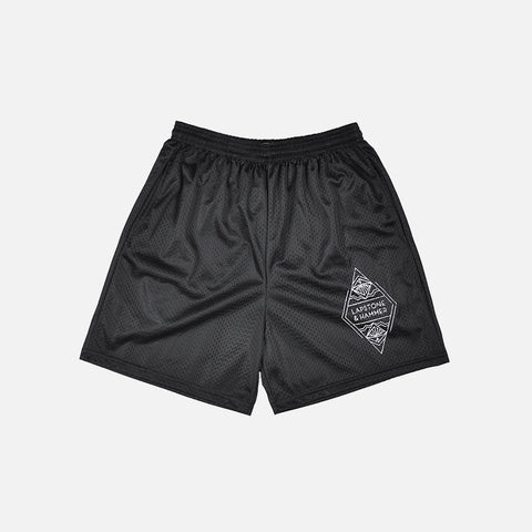 DIAMOND MESH SHORT - BLACK