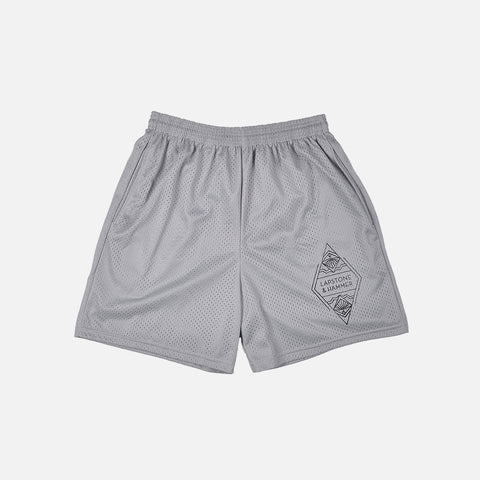 DIAMOND MESH SHORT - SILVER