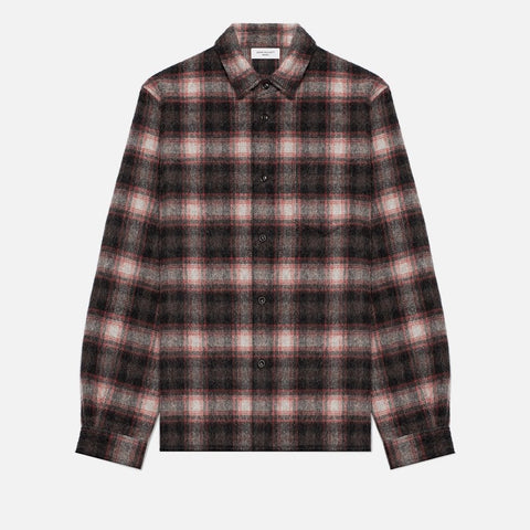 SLY ALPACA STRAIGHT HEM - RED CHECK