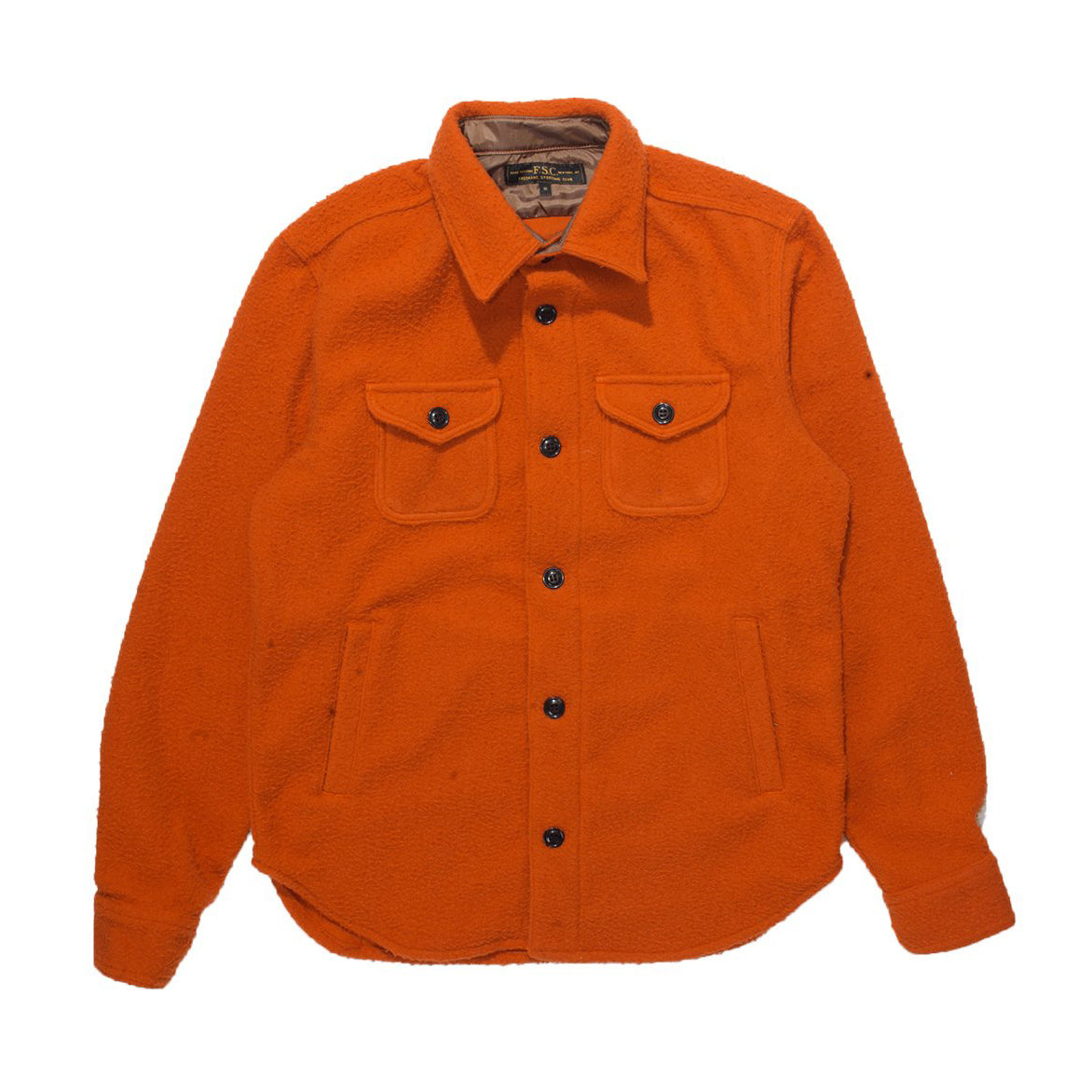 NEP WOOL OVERSHIRT - ORANGE