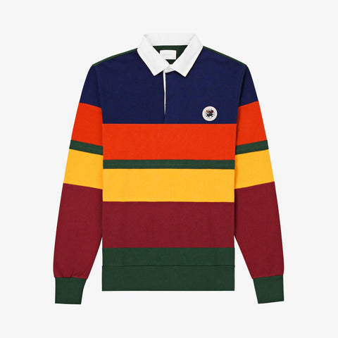 COLOR BLOCKED RUGBY - NAVY