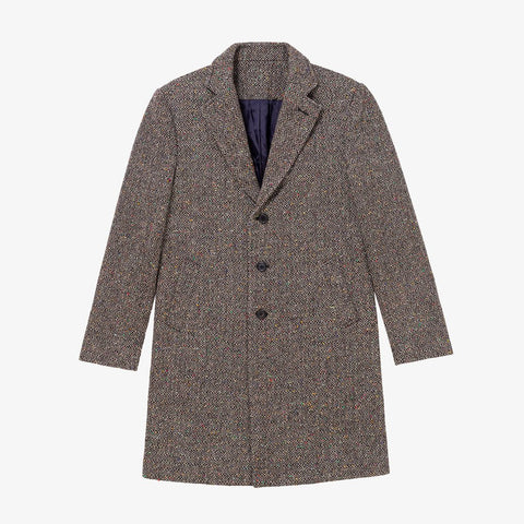 DONEGAL TWEED TOP COAT - GREY