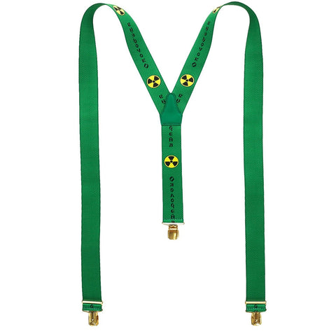 PRINTED SUSPENDERS - GREEN