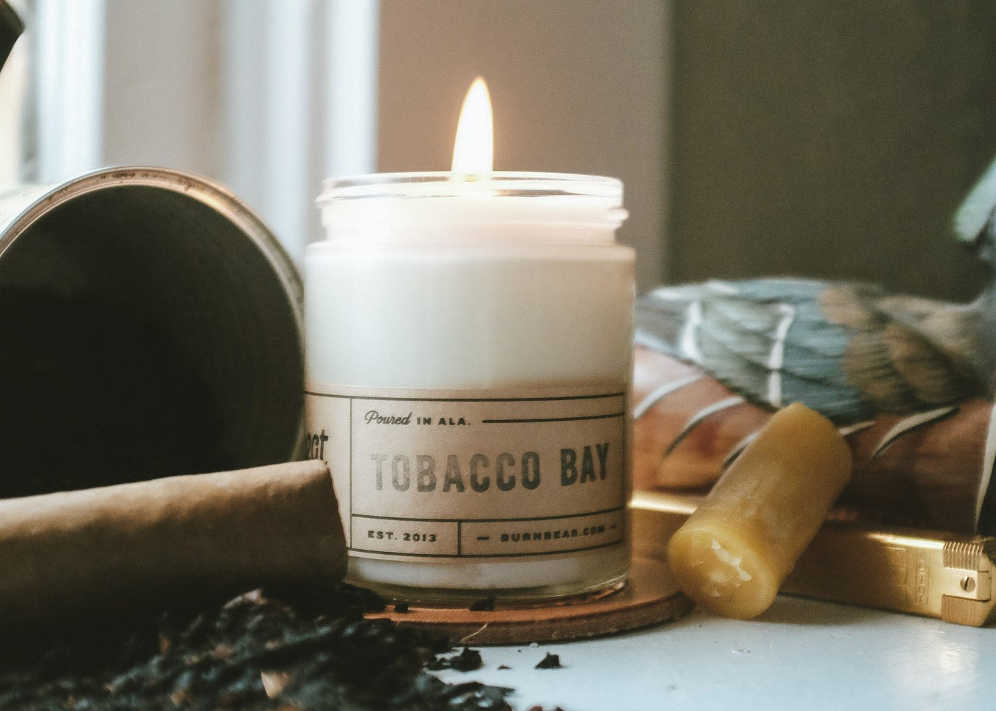 6 OZ CANDLE - TOBACCO BAY