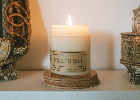 6 OZ CANDLE - WOODEN NO1