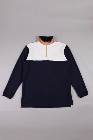 PULLOVER - NAVY / WHITE / PEACH