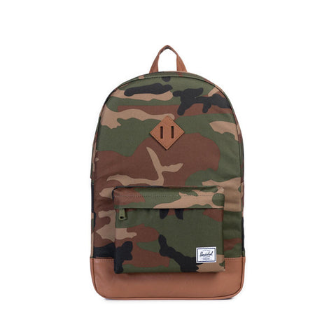 HERITAGE BACKPACK - WOODLAND CAMO / TAN