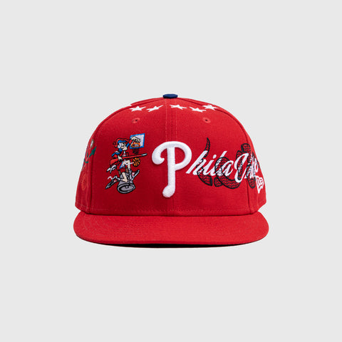 ARENA X 76ERS NEW ERA 5950 CAP - RED