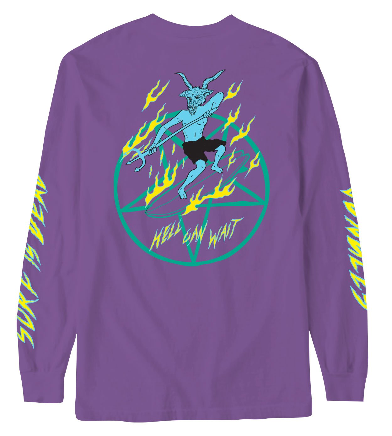 HELL CAN WAIT LONG SLEEVE TEE - PURPLE