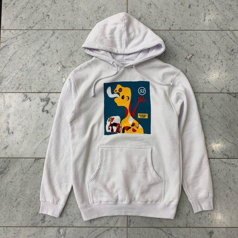"""TIME FLIES"" MIRÓ HOODIE - WHITE"