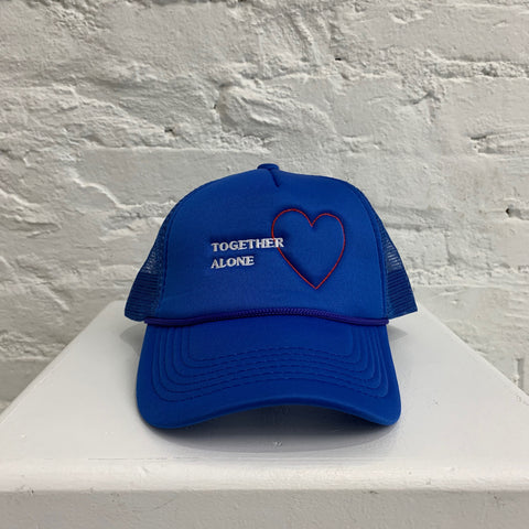 """TIME FLIES"" TOGETHER ALONE TRUCKER - BLUE"