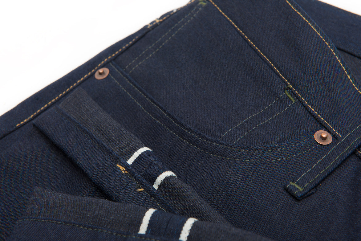 L&H x G+R 12 OZ JAPANESE SELVAGE DENIM - DARK INDIGO