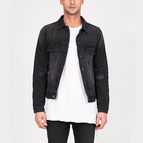 CLASSIC JACKET BEATEN UP - BLACK