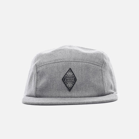 LAPSTONE 5 PANEL CAP - GREY