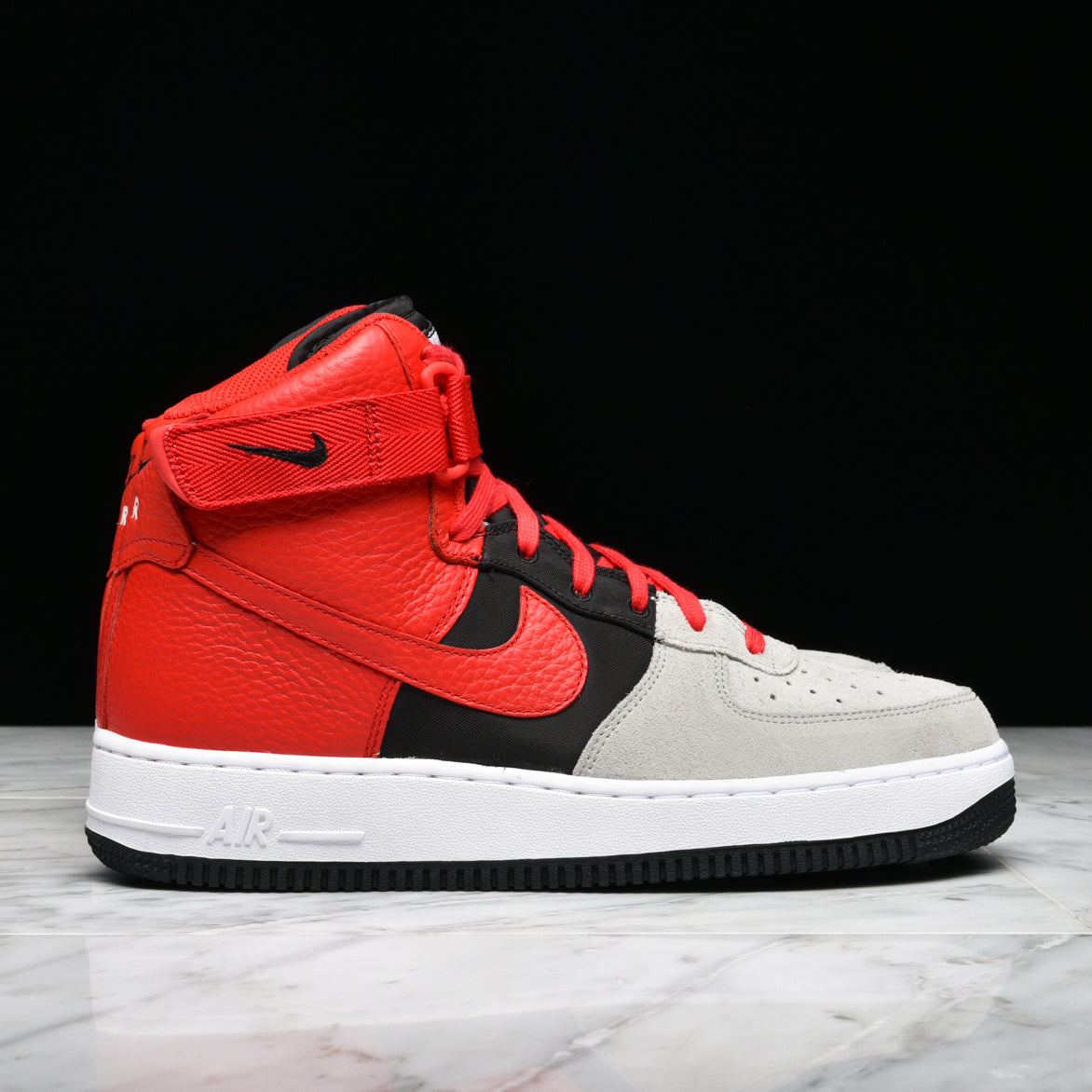 quality design df997 5fcd2 red and black nike air force 1 lv8 high tops