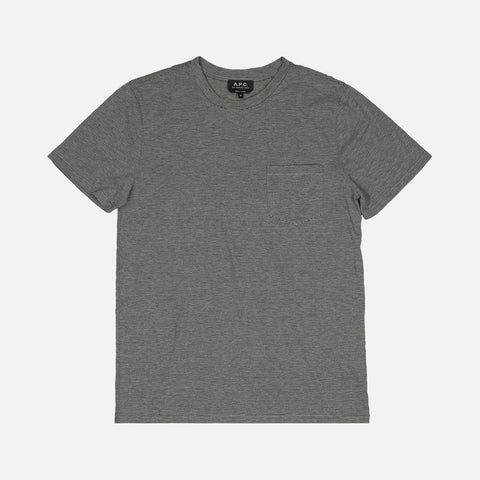KEANU TEE - HEATHERED GREY
